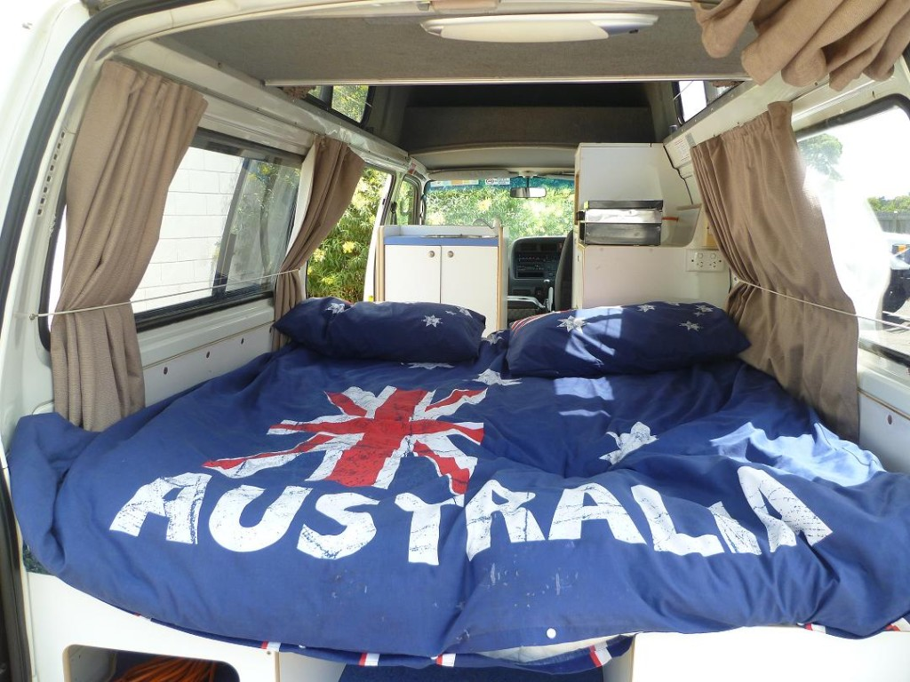 Land Cruiser for sale - we can build double beds in our 4x4s or campervans