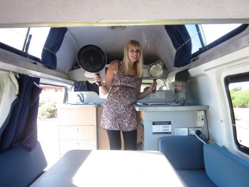 toyota campervan for sale - great practical kitchen layout