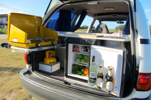 Toyota Tarago used campervan for sale with fridge, cooker