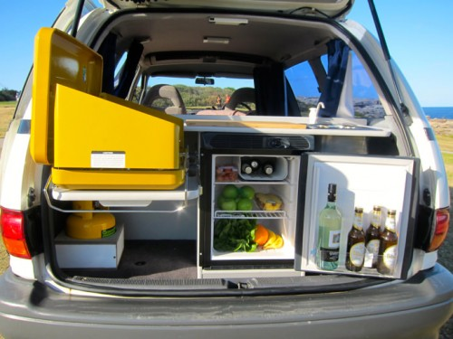 Used campervan for sale with fridge, cooker and mini kitchen
