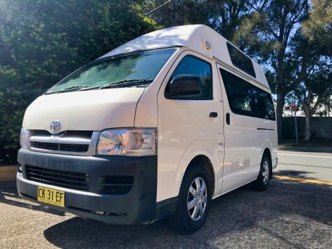 Toyota campervan for sale - front side angle view