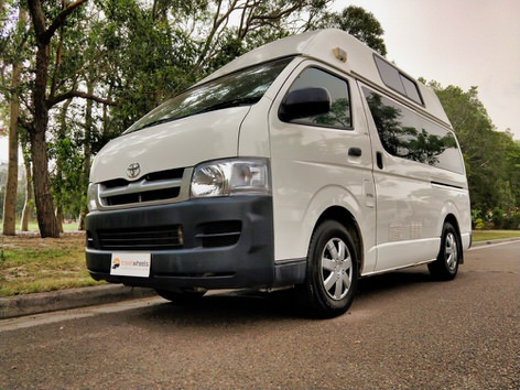 Toyota Hiace Campervan for sale Sydney - Call 0421101021 - passenger front side view