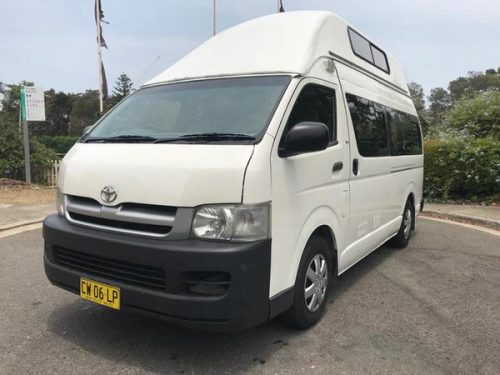 used automatic campervans for sale - front side view