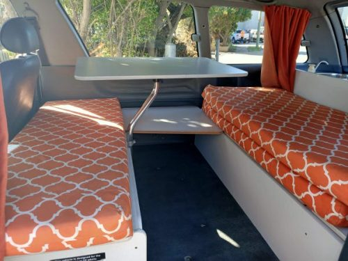 Toyota Tarago automatic campervan for sale - inside lounge area