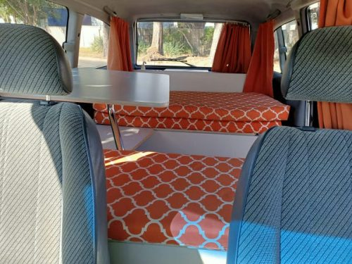 Toyota Tarago automatic campervan for sale - view from drivers seat looking back
