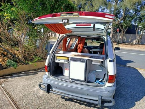 Toyota Tarago automatic campervan for sale - kitchen view