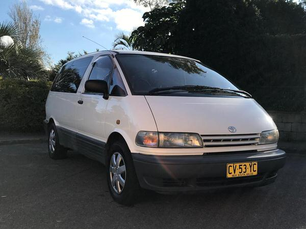 Used campers for sale - Toyota 2 person campervan front drivers side view