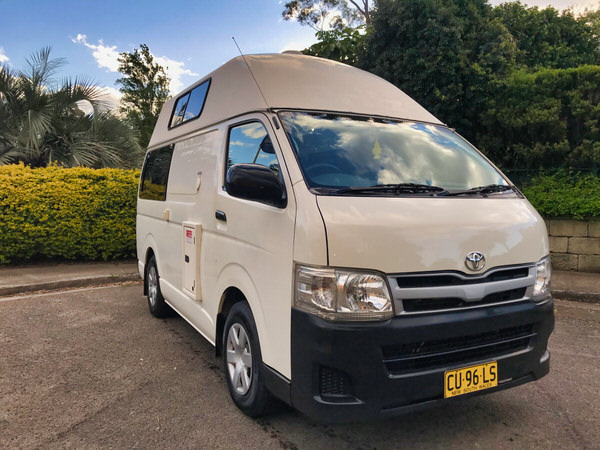 Used Toyota campervans for sale - front drivers side view