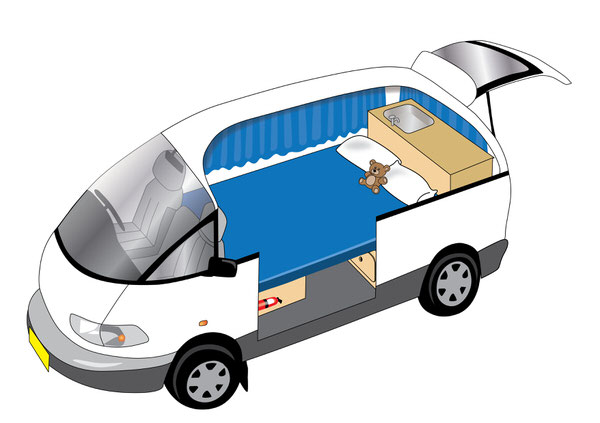 Toyota Automatic 2 person campervan double bed image