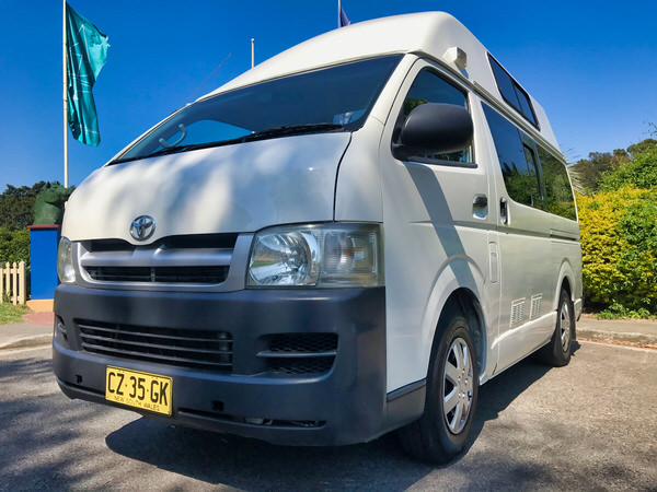 Toyota Hiace Campervan for sale in Sydney - front passenger side angle view