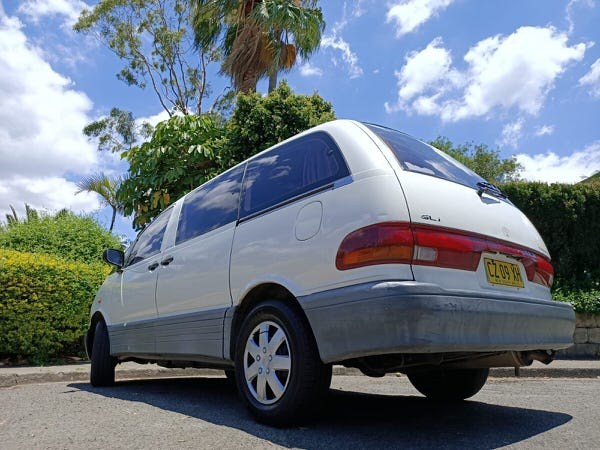2 Person Toyota Campervan for sale - rear view and clean lines and no stickers